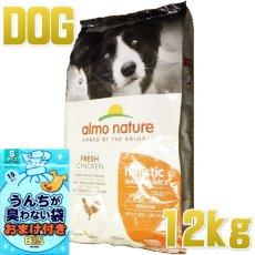画像1: 最短賞味2021.4・アルモネイチャー 犬 チキン 中粒 12kg大袋 ald744 成犬用 ホリスティック ドッグフード ドライ almo nature 正規品 (1)