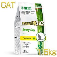 画像1: 最短賞味2021.8・フォルツァ10 猫 BiO エブリデイ ビオ チキン 1.5kg 成猫シニア猫オーガニック キャットフード FORZA10正規品fo91276 (1)