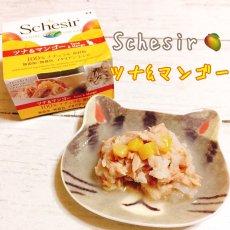 画像1: 最短賞味2022.4・シシア 猫用 キャット(ツナ&マンゴー)75g缶 成猫用シニア猫対応ウェット 一般食キャットフード Schesir 正規品 scc354 (1)