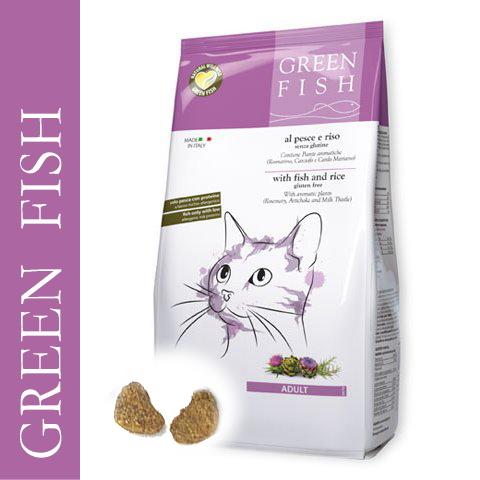 画像1: 最短賞味2020.7・グリーンフィッシュ 猫用 キャット ドライ 1.5kg 全年齢対応・キャットフード・Green Fish・正規品 gr03051 (1)