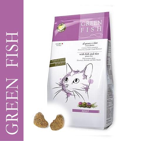 画像1: 最短賞味2021.4・グリーンフィッシュ 猫用 キャット ドライ 500g 全年齢対応・キャットフード・Green Fish・正規品 gr03044 (1)