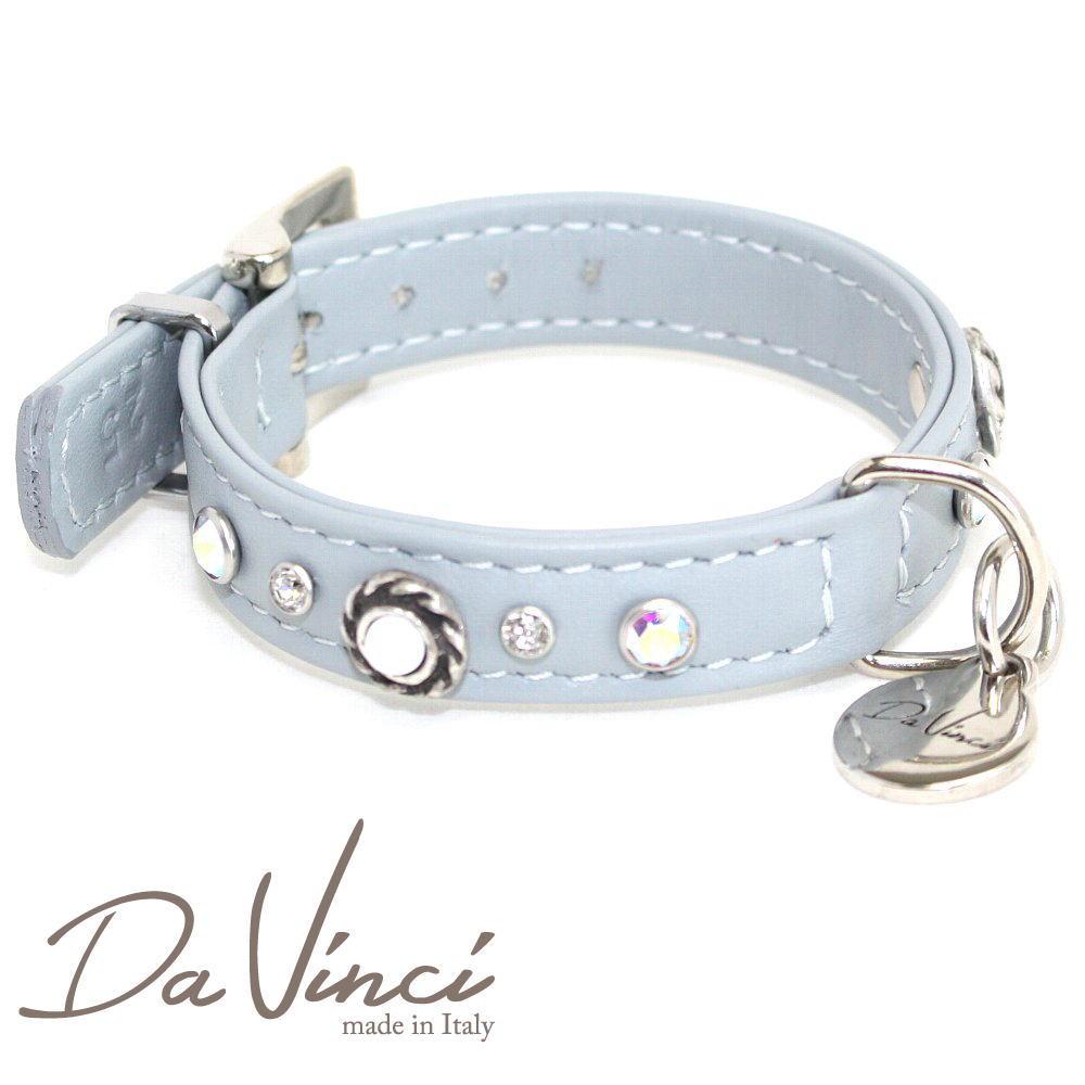 画像1: ダヴィンチ /カラー Vittoria:グレー/DV1.1.25G 【小型犬用首輪・首周り実寸:約17〜21cm/お洒落な/イタリア製/かわいい/Da Vinci】 (1)