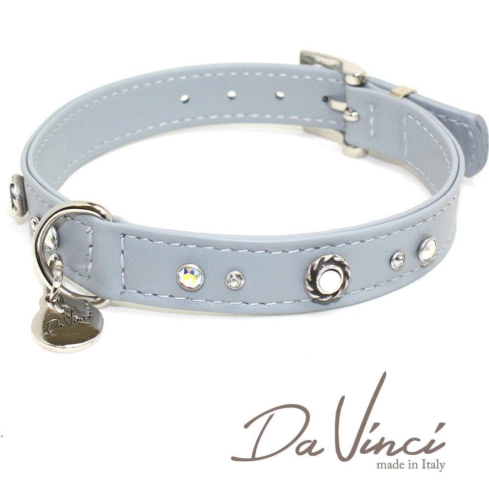 画像1: ダヴィンチ /カラー Vittoria:グレー/DV1.2.40G 【中型犬用首輪・首周り実寸:約29〜35cm/お洒落な/イタリア製/かわいい/Da Vinci】 (1)