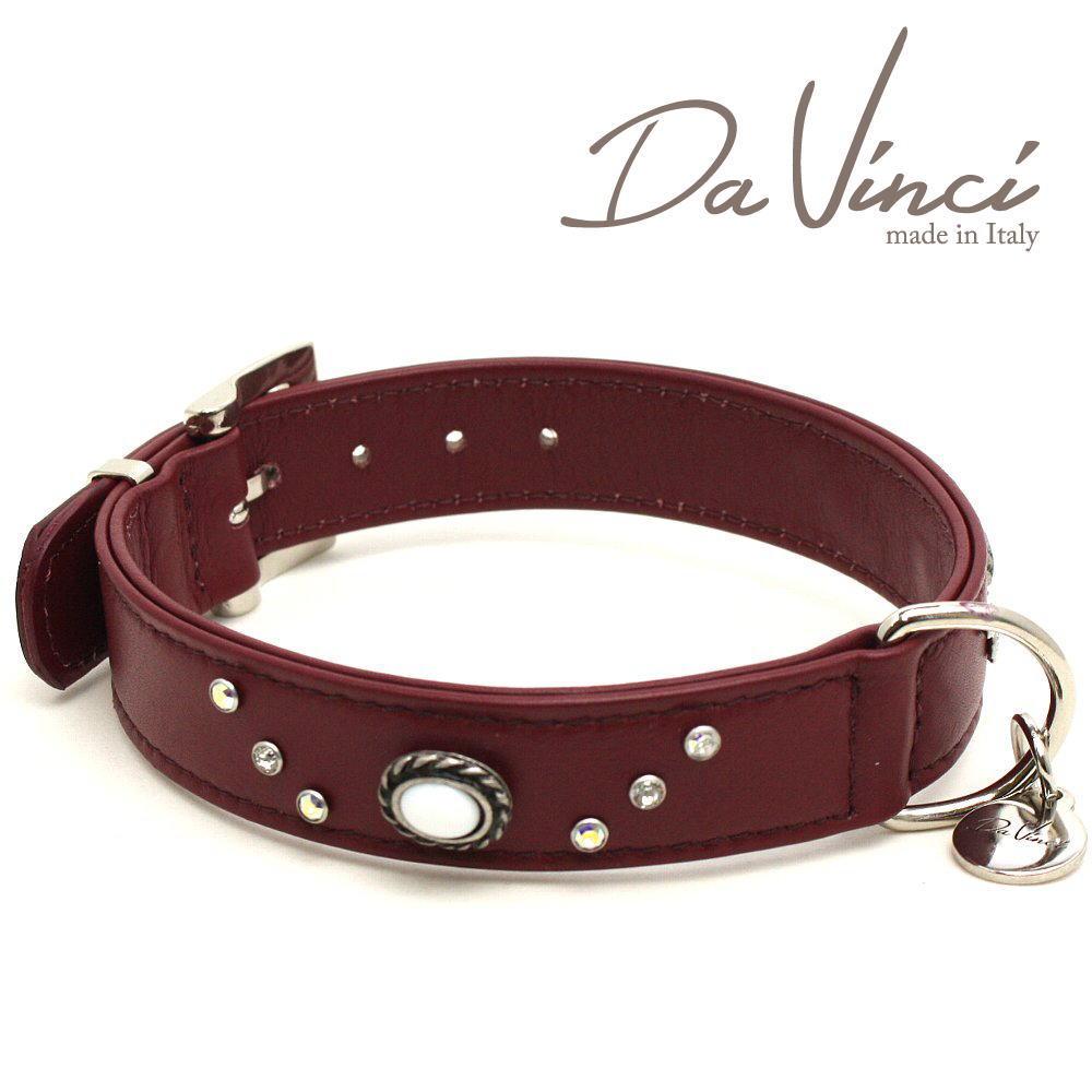 画像1: ダヴィンチ カラー Vittoria:ボルドー DV1.3.40BX 【中型犬用首輪・首周り実寸:約29〜35cm お洒落な イタリア製 かわいい Da Vinci】 (1)