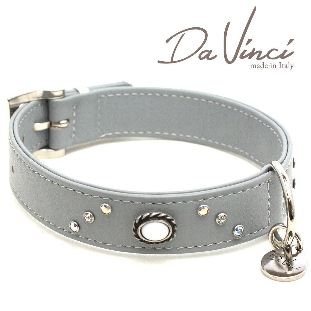 画像1: ダヴィンチ /カラー Vittoria:グレー/DV1.3.40G 【中型犬用首輪・首周り実寸:約29〜35cm/お洒落な/イタリア製/かわいい/Da Vinci】 (1)
