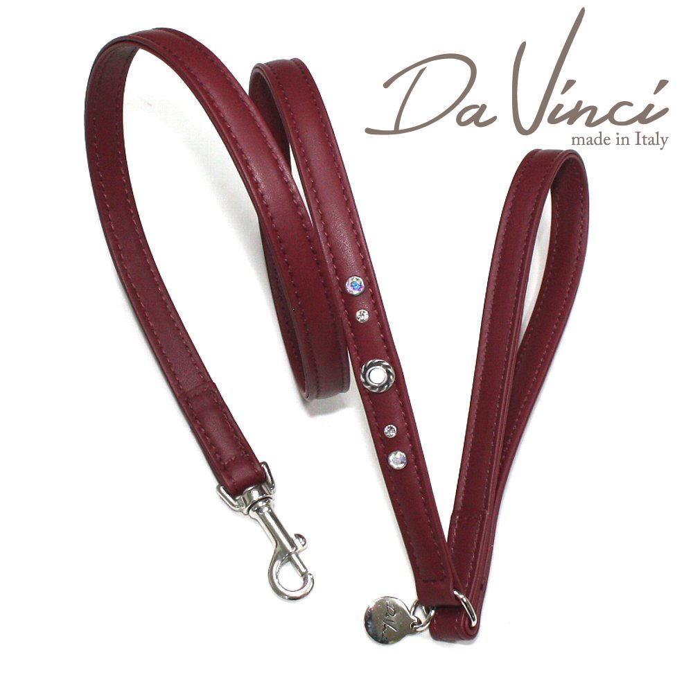 画像1: ダヴィンチ Vittoria:ボルドー DV1.4BX 【犬用リード・全長:約110cm 幅:1.5cm お洒落な イタリア製 かわいい Da Vinci】 (1)