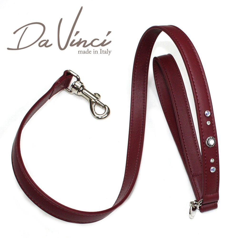 画像1: ダヴィンチ /Vittoria:ボルドー/DV1.5BX 【犬用リード・全長:約110cm/幅:2cm/お洒落な/イタリア製/かわいい/Da Vinci】 (1)