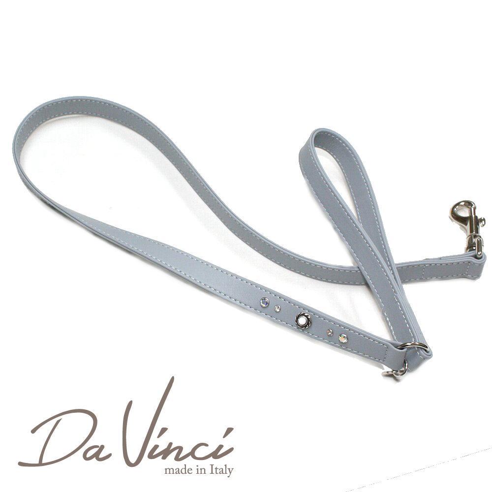 画像1: ダヴィンチ Vittoria:グレー DV1.5G 【犬用リード・全長:約110cm 幅:2cm お洒落な イタリア製 かわいい Da Vinci】 (1)