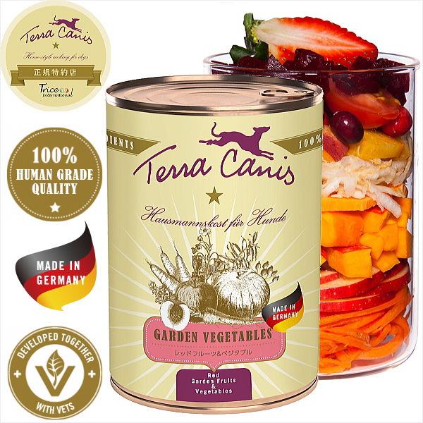 画像1: 最短賞味期限2020/12・ テラカニス  犬用/レッドフルーツ&ベジタブル 400g缶 一般食 ドッグフード TerraCanis 正規品 (1)