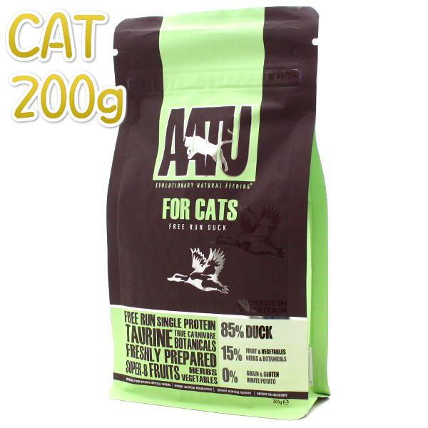 画像1: SALE/賞味期限2021.5.12・アートゥー キャットフード ダック 200g 成猫用 グレインフリー(穀物不使用)AATU 正規品aa12197 (1)