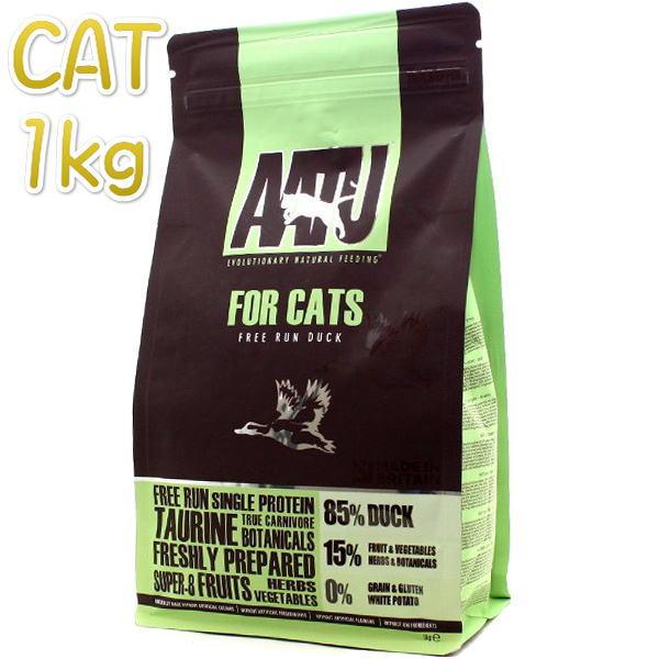 画像1: 最短賞味2021.3.7・アートゥー 猫 キャットフード ダック 1kg 成猫用グレインフリーAATU正規品aa12203 (1)