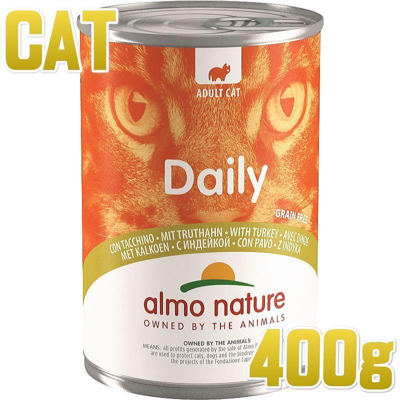 画像1: 最短賞味2022.6・アルモネイチャー 猫 デイリーメニュー 七面鳥 400g缶 alc162成猫用ウェット総合栄養食キャットフードalmo nature正規品 (1)
