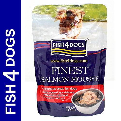 画像1: 最短賞味2021.8・フィッシュ4ドッグ サーモンムース 100g 穀物不使用 ウェット FISH4DOGS 正規品 f427356 (1)