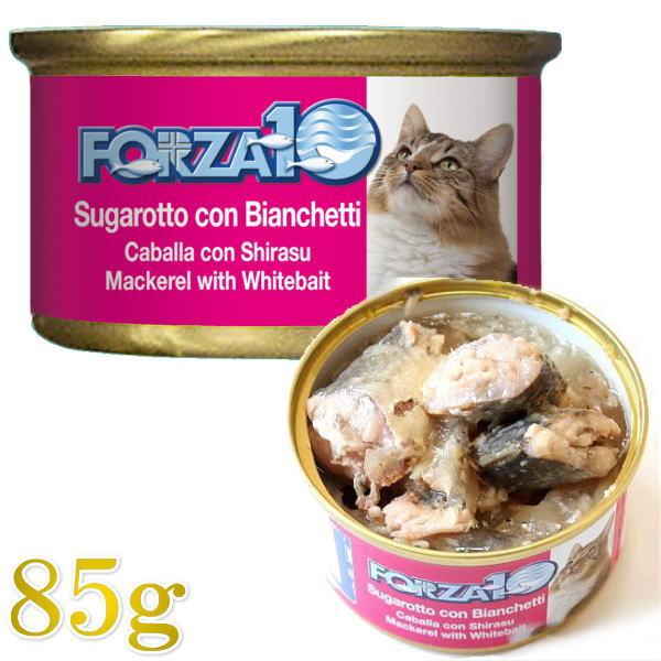 画像1: 最短賞味2022.2・フォルツァ10 猫用 メンテナンス サバ&シラス 85g缶 成猫用 シニア猫対応ウェット 一般食 FORZA10 正規品 (1)