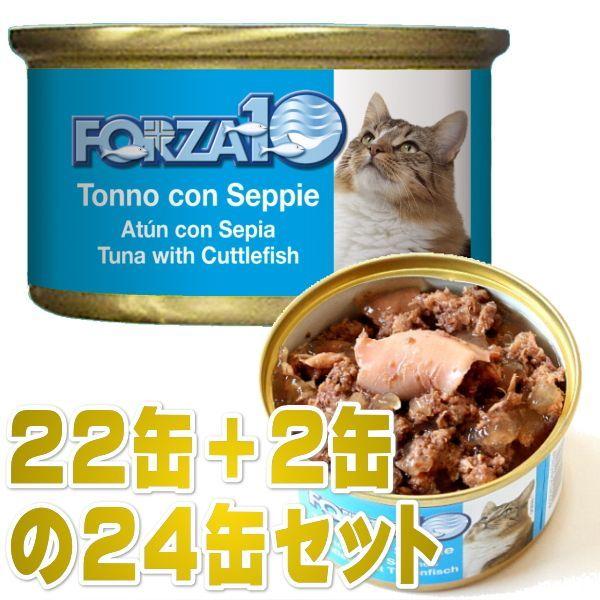 画像1: 最短賞味2021.10・フォルツァ10 猫 メンテナンス マグロ&イカ 85g×24缶 ウェット キャットフード FORZA10正規品fo05647s24 (1)