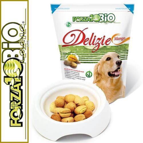 画像1: 最短賞味2021.7・フォルツァ10 犬 オーガニック フルーツビスケット マンゴー味 300g 犬用おやつ FORZA10正規品fo00190 (1)