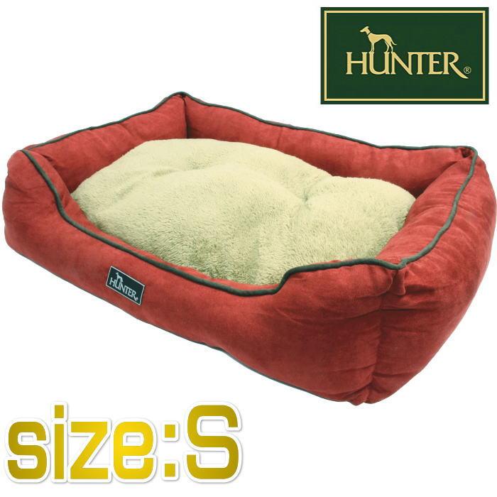 画像1: HUNTER ハンター ドッグソファ コテージ レッド Sサイズ【小型犬・猫用ベッド・50×40×14cm・HUNTER】 (1)