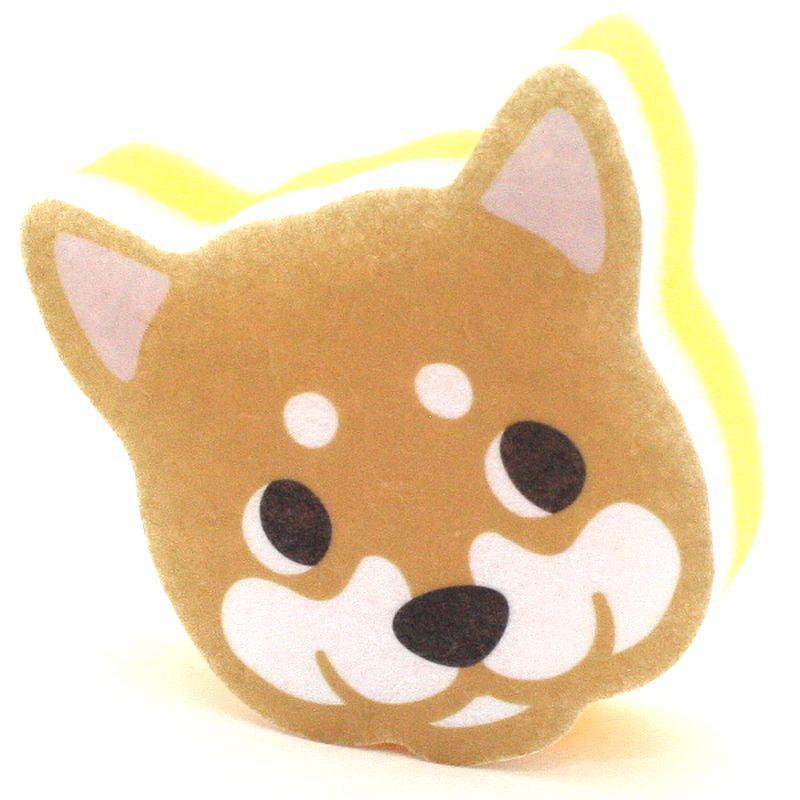画像1: ハッピードッグ キッチンスポンジ しば犬 ksdsiba (1)