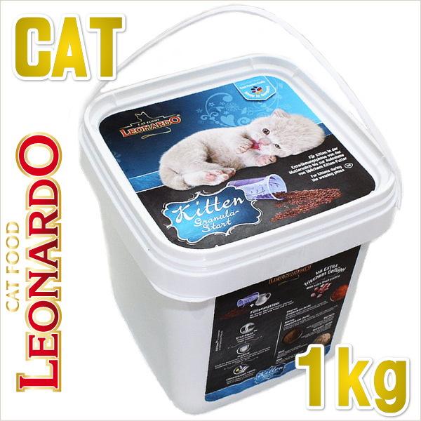 画像1: 最短賞味期限2019/7・ レオナルド キトン グラニュラスタート 1kg 子猫用離乳食 キャットフード LEONARDO 正規品 le55049 (1)