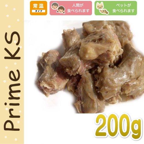 画像1: 最短賞味2020.5・プライムケイズ 無薬飼育鶏かぶりつき 200gレトルト 犬猫人用 トッピング 無薬飼育 国産 無添加 さかい企画 Prime KS pr10894 (1)