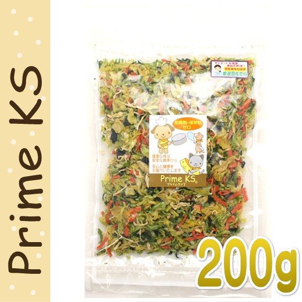 画像1: 最短賞味2020.3・プライムケイズ 手作りごはんの具 200g 犬猫用 野菜ミックス ふりかけ トッピング 国産 無添加 さかい企画 Prime KS pr20190 (1)