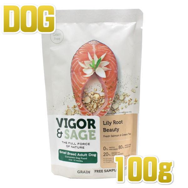 画像1: 最短賞味2020.2.2・ビゴー&セージ リリールート ビューティ 100g 有料サンプル小粒 成犬用ドライ 穀物不使用グレインフリー ドッグフード VIGOR&SAGE 正規品 vs70202 (1)